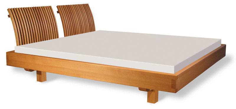 rast massivholzbett tres schwebend rotbuche 25. Black Bedroom Furniture Sets. Home Design Ideas